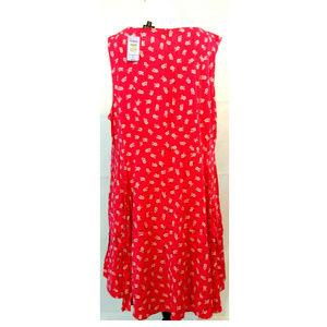 torrid Dresses - Torrid 5 28 Dress Coral Floral Sundress Skater